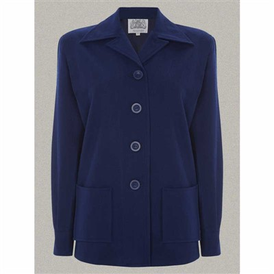 The Seamstress of Bloomsbury Pearl jacket blue wool in the group Clearance / Women / Misc at Sivletto (w9764)