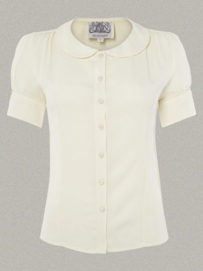 The Seamstress of Bloomsbury Jive blouse cream in the group Women / Blouses, tops & t-shirts at Sivletto (w9781)