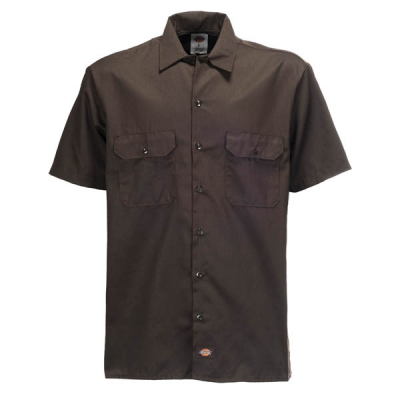 Dickies Shortsleeve Work Shirt Dark Brown in the group Sale! / Men / Shirts at Sivletto - Skylark AB (w9812)
