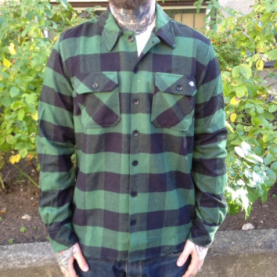 Dickies Sacramento Pine Green Shirt in the group Men / Shirts, long sleeve at Sivletto (w9819)