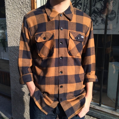 Dickies Sacramento Brown Duck in the group Shirts, long sleeve at Sivletto (w9820)