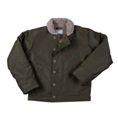 Pike Brothers 1944 N1 Deck Jacket Waxed Olive in the group Men / Jackets and coats at Sivletto (w9902)