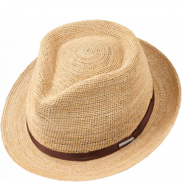 76404d947 Stetson Alpena Player Crochet Raffia Hat