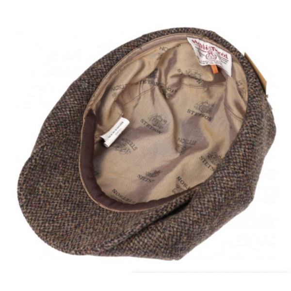 7f009cc1b9aea0 Stetson 8-Panel Harris tweed cap