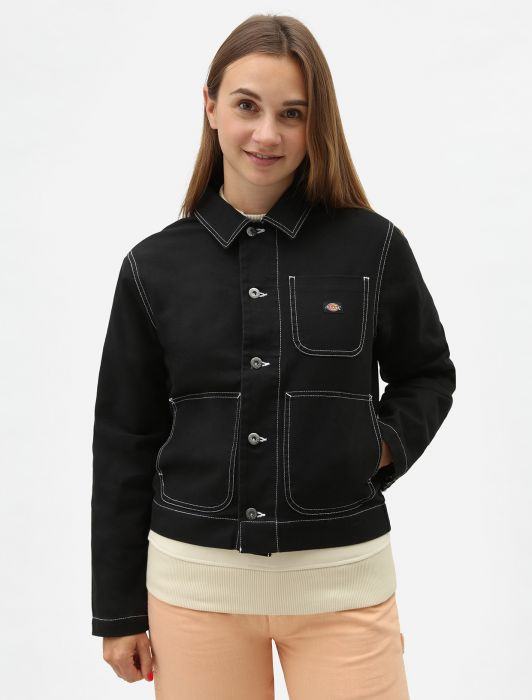 Dickies Dickies Toccoa Women's Unlined Chore Jacket Black
