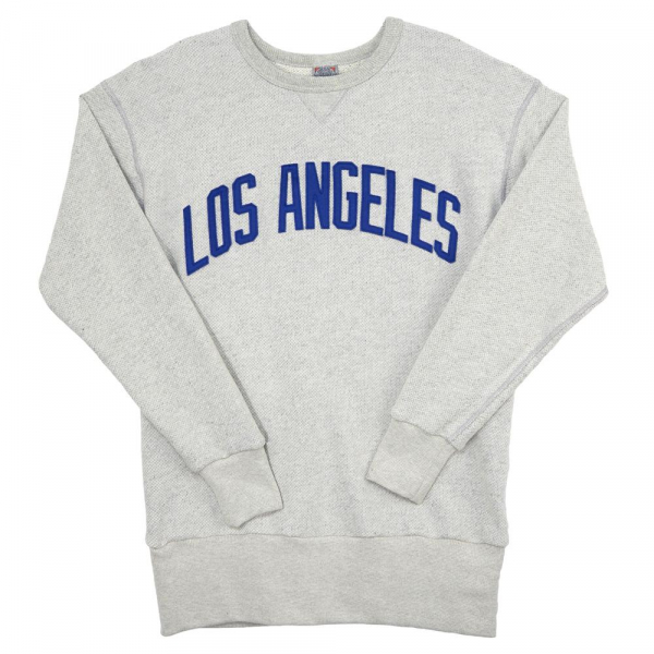 e40615c244f8 Ebbets Field Los Angeles Angels (PCL) Crewneck Sweatshirt Heather Gray