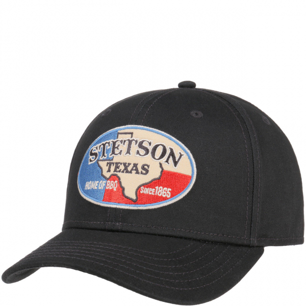 2688a2be4cbad Stetson Baseball Cap Texas Home of BBQ Black