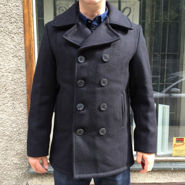 2524eb2f8b7 Vintage Style Us Navy Pea Coat Mens Jacket Classic Army Reefer