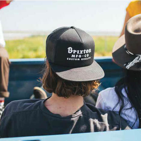 44c9b46b7 Brixton - Brixton Sadler Black Mesh Cap
