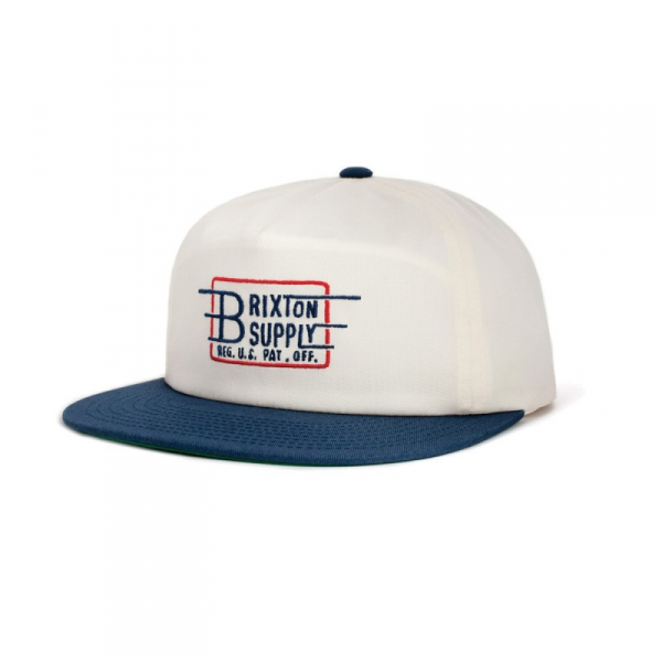 8bc526b4bcbd2 Brixton Bishop Cap White Navy