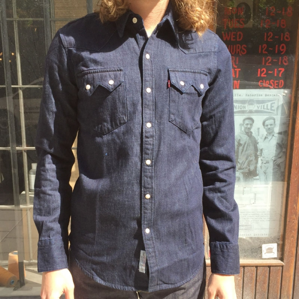 Levis sawtooth westernshirt for Levis vintage denim shirt 1950 sawtooth slim fit