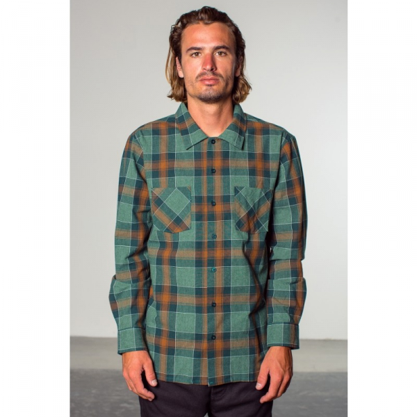 Brixton Albert Woven Shirt Brown | Sivletto