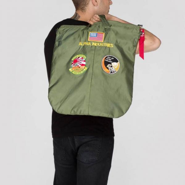 detailed look 220e3 3a551 Alpha Industries Inc. - Alpha Industries Helmet Bag sage green