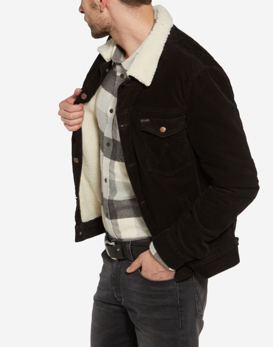 Wrangler Sherpa jacket black | Sivletto