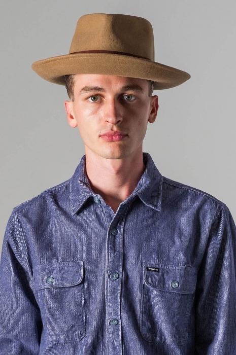 Brixton Swindle Fedora Dark Tan in the group Men   Headwear   Hats at  Sivletto - 1f83d395489