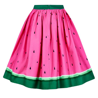 c68a063572f43 Collectif Jasmine watermelon swing skirt | Sivletto