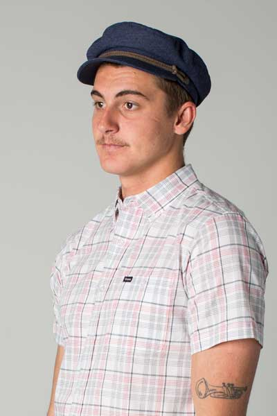 Brixton Fiddler cap navy brown in the group Men   Headwear   Sailor hats at 5e967d50674