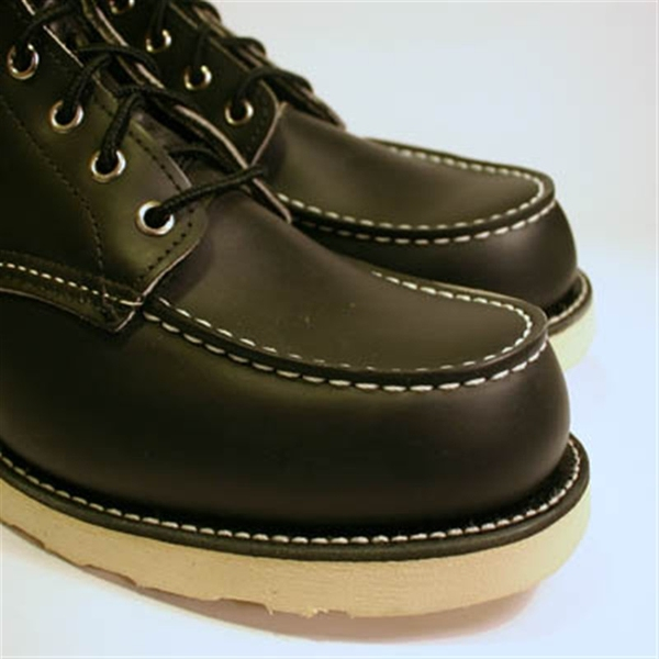 Red Wing Zapatos Red Wing Style No. 8130 Classic Toe Moc Toe Classic Negro  Rojo Win f2d2eb