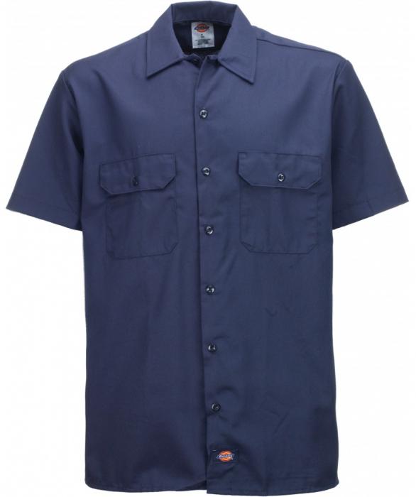 Dickies Shortsleeve Work Shirt Navy Blue Sivletto