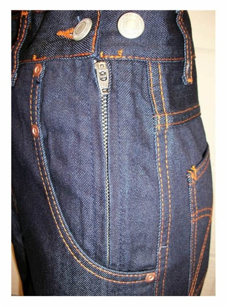 Freddies Of Pinewood Rivet Jeans Sivletto