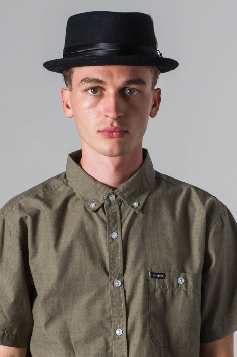 277ced0ff80 Brixton Stout Pork Pie Black in the group Men   Headwear   Hats at Sivletto  -. Brixton ...
